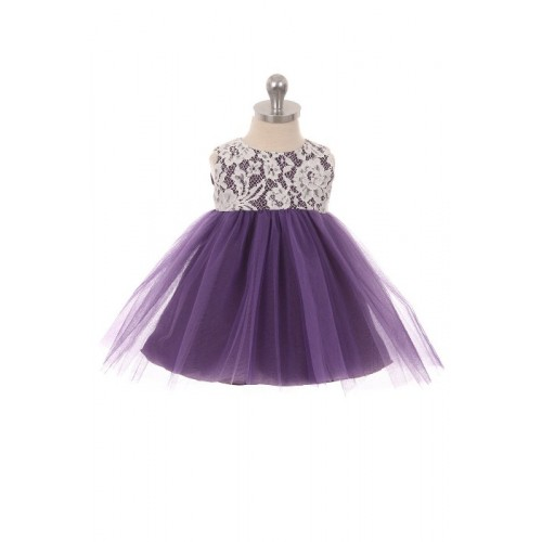 Lace Illusion Baby Dress