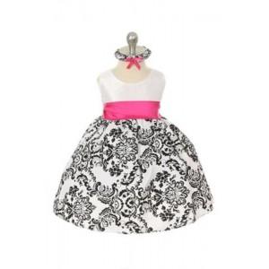 Velvet Flocked Taffeta Dress