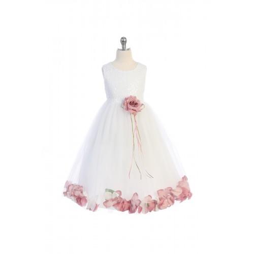Sequin Top Petal Dress