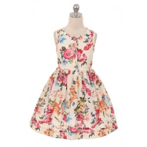 Bold Floral Button Dress