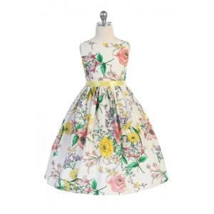 Botanical Flower Cotton Dress