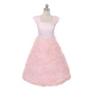 Rosette Skirt Sleeve Dress