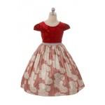 Velvet Metallic Floral Dress