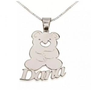 Teddy Bear Pendant With Name